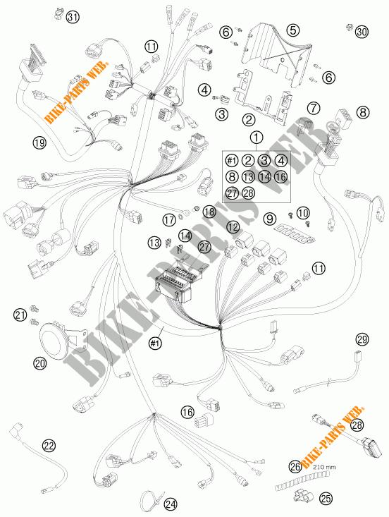 Faisceau Electrique Pour Ktm 990 Super Duke R De 2012